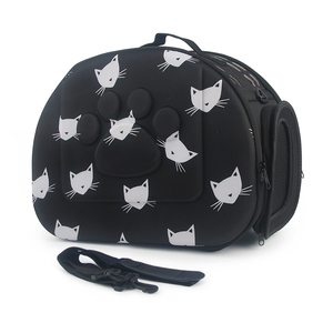 Image 5 - Cat Pattern Blue Dog Carrier Bag Portable Cats Handbag Foldable Travel Bag Puppy Carrying Shoulder Pet Bags
