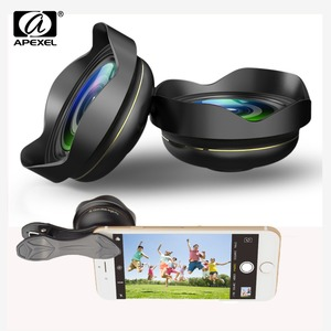 Image 1 - APEXEL Optic HD 15mm Phone lens 0.5X 4k Wide angle Lens Camera lens Professional Mobile Lens for iPhone Xiaomi redmi Samsung