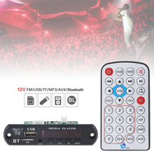 12V 1080P Wireless Bluetooth Audio Decoder Board WAV MP3 Decoders with Stereo TF Card U Disk Player for Family Car Home DVD