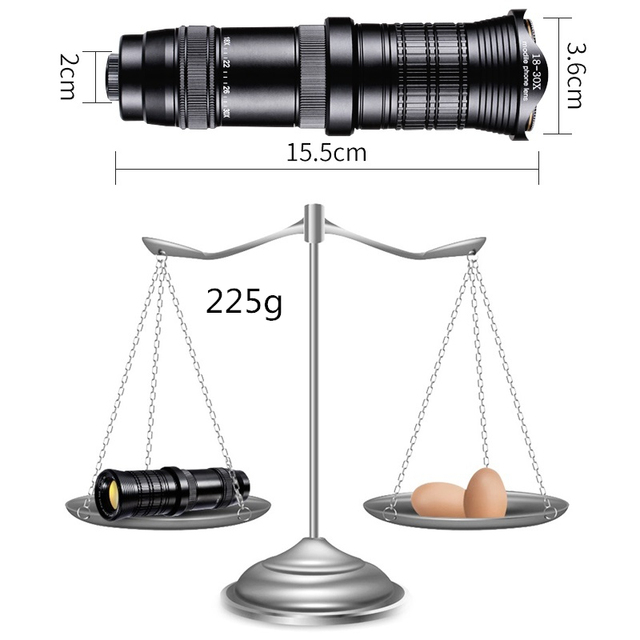 18-30X HD Adjustable Telephoto Zoom Lens