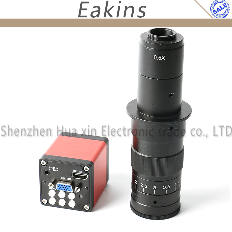 13MP 1/3 CMOS Industry microscope Camera HDMI VGA outputs 60F/S 720P +10X~180X Adjustable Magnification 25mm Zoom C-mount Lens 10x 200x adjustable magnification 25mm zoom c mount lens 0 7x 4 5x industry hdmi vga usb microscope camera eyepiece magnifier