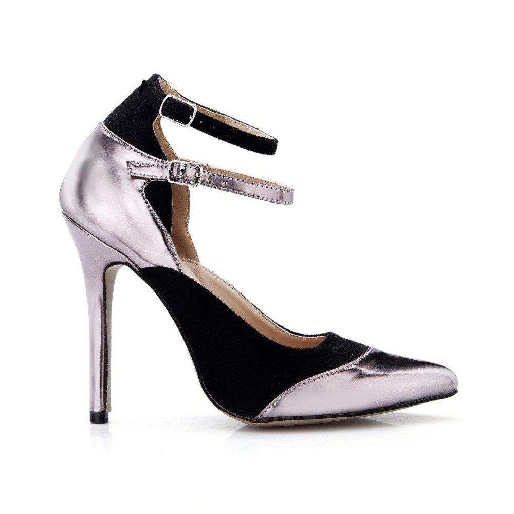 correa Bombas Punta 2016 Altos Tacones Mujer Sandalias Acuden De Mujeres Zapatos Tobillo Estrecha Patchwork Sexy Estilo Nuevo Verano Cuero Las Yd0qvqw