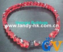 Handicarft souvenir Custom Design Team Titanium Germanium Ionic Sports Necklace Triple Braid Georgia Bulldogs, 100pcs/lot