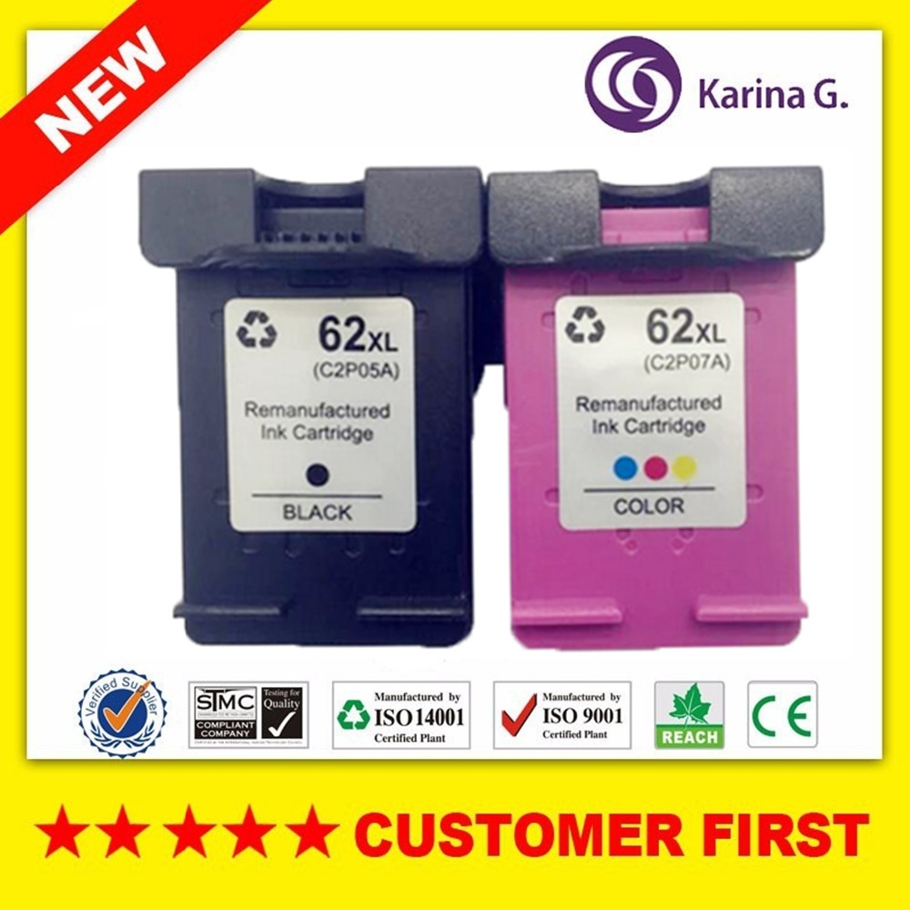 1set Remanufactured For Hp 62xl Hp62 Ink Cartridge Suit Envy 5640 5660 7640 5540 5544 5545 5546 5548 Officejet 5740