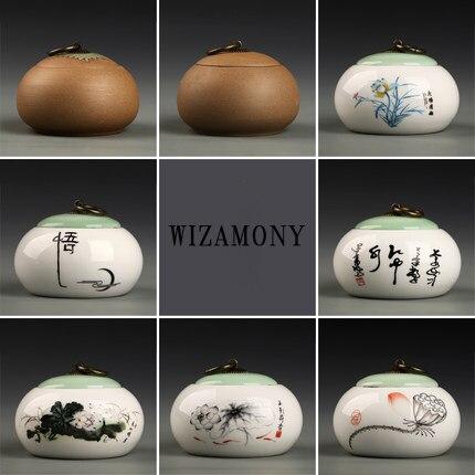 Promoção!!! WIZAMONY chinês todos os tipos de recipiente de chá caddy vasilha de cerâmica em bruto para o chá puer pequeno chá caixas de armazenamento