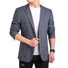 MarKyi 2019 fashion gray men suits and blazer plus size 4xl casual jackets blazers single button blazer for men slim fit men houndstooth single button blazer