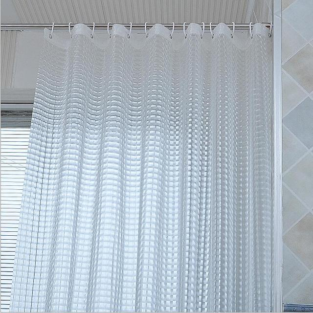 3D Water Effect Cube Design Resistance Bathing Shower Curtain Fabric EVA Waterproof Home Bathroom Curtains