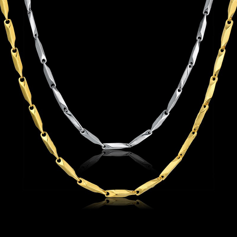 Rvs Collier 3 MM Collares 2016 Hiphop Chain 45/50/55/61/68 CM Rock Ketting Mannen / Vrouwen Accessoires Groothandel