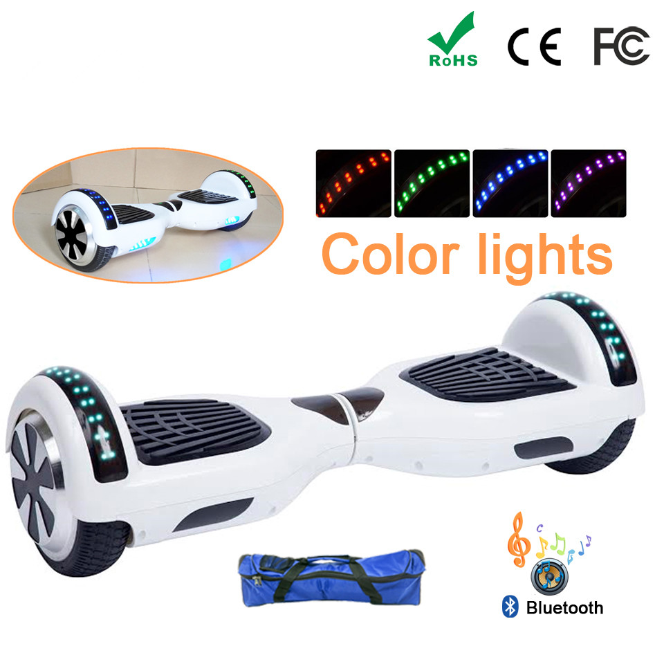 EU Warehouse Hoverboard 6 5 Inch with Bluetooth Bag Remote Key E Scooter Electric Board Smart