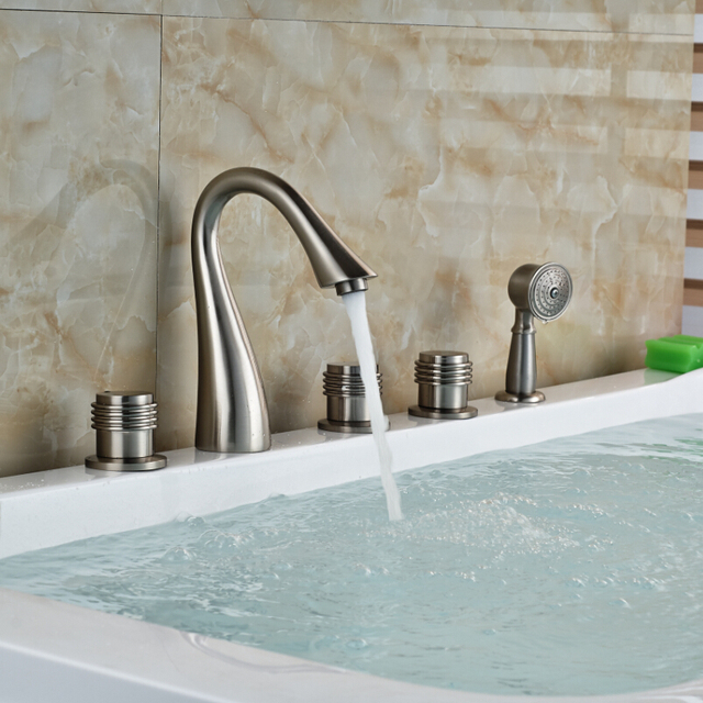 Good Price Best Quality Brushed Nickel Brass Handheld Shower Faucet ...