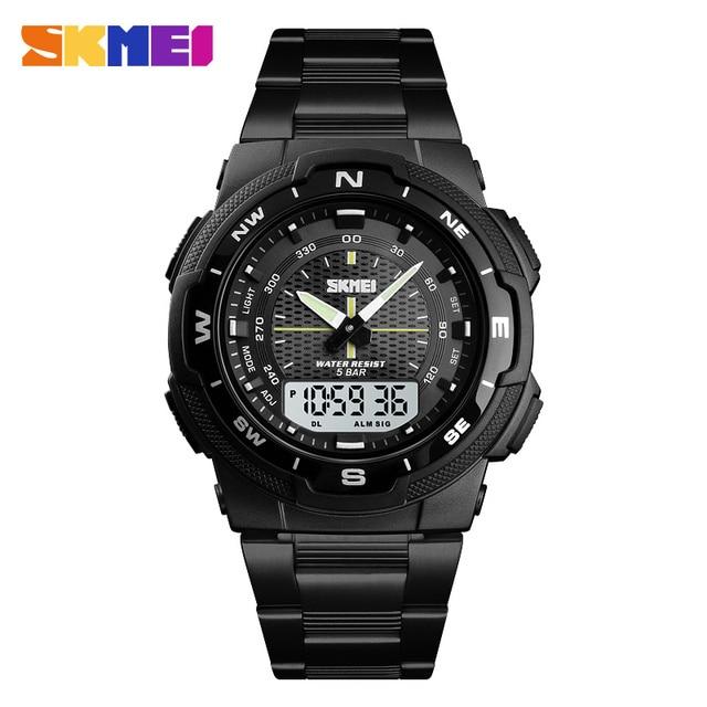 balck white watch