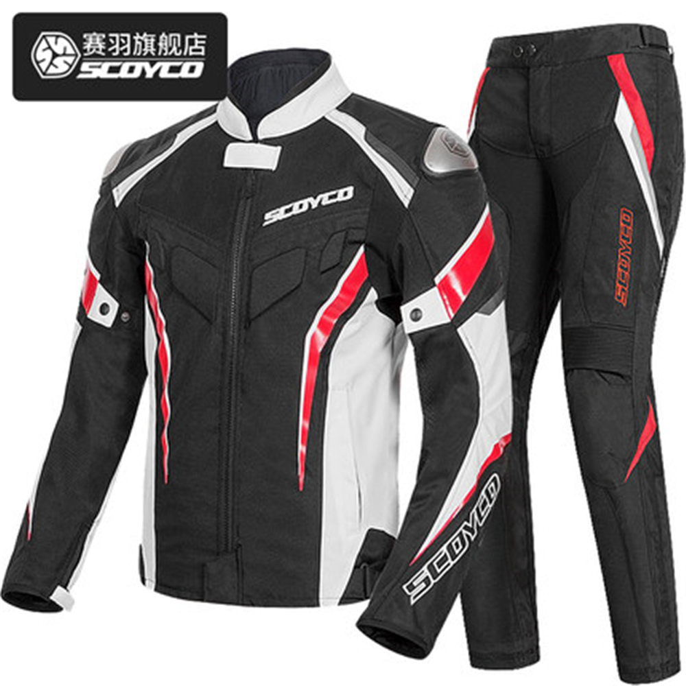 NEW SCOYCO Mesh Summer Motorcycle Jacket Riding Suit Motorbike Reflective Jacket Protective Jacket Drop-proof Suit
