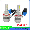 Hot New 110W/Pair Car Led Headlight Source 9007 High Low Beam HB5 Hi/lo Cob Chips Replacement Head Light Kits Auto LED Head Lamp