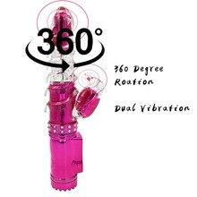 YEMA 360 Degrees Swing Dildo Vibrator Sex Toys for Woman Dual Clitoris Stimulator G Spot Rabbit Vibrator Sex Machine Shop