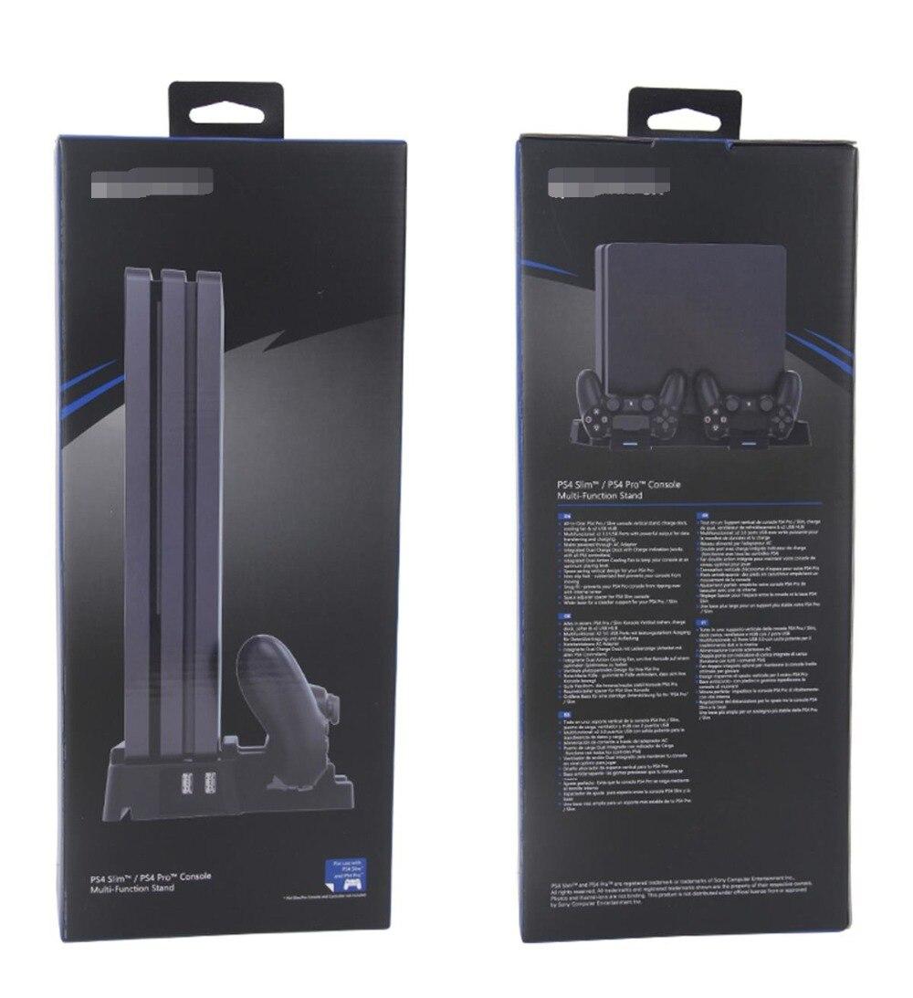 Support Vertical avec 2 ventilateurs double contrôleur USB Station de charge pour PS4 SLIM/PRO