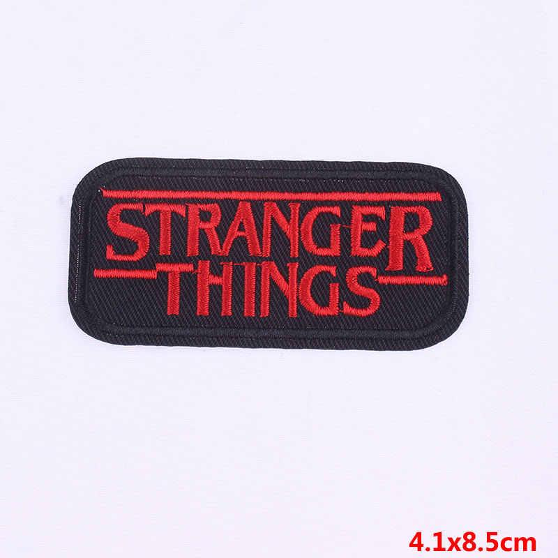 Prajña Brief Stranger Dingen Geborduurde Patch Ijzer Op Patches Voor Kleding Naaien Levert Decoratie Badge Naaien Badges E