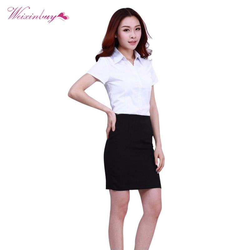 Plus Size White   Blouse     Shirt   Women Work Wear Long Sleeve Blusas Tops Slim Ladies Office   Blouses     Shirts