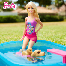 Barbie Doll Original Brand Puppy Chase Swimming Dog Princess Toy Of Girl A Birthday Present Girl Toys Gift Boneca DMC32