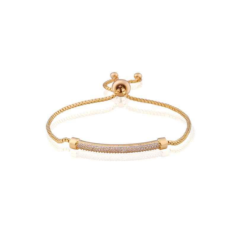 New Design Pave AAA Cubic Zirconia Gold Bracelet Gold Charm Bracelets for Women Feminine Party Fashion Accessories brtk20
