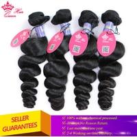 Королевские Продукты для волос малазийские свободные волнистые волосы пучок натуральный цвет 1B 1 шт 10 до 28 100% девственные человеческие вол