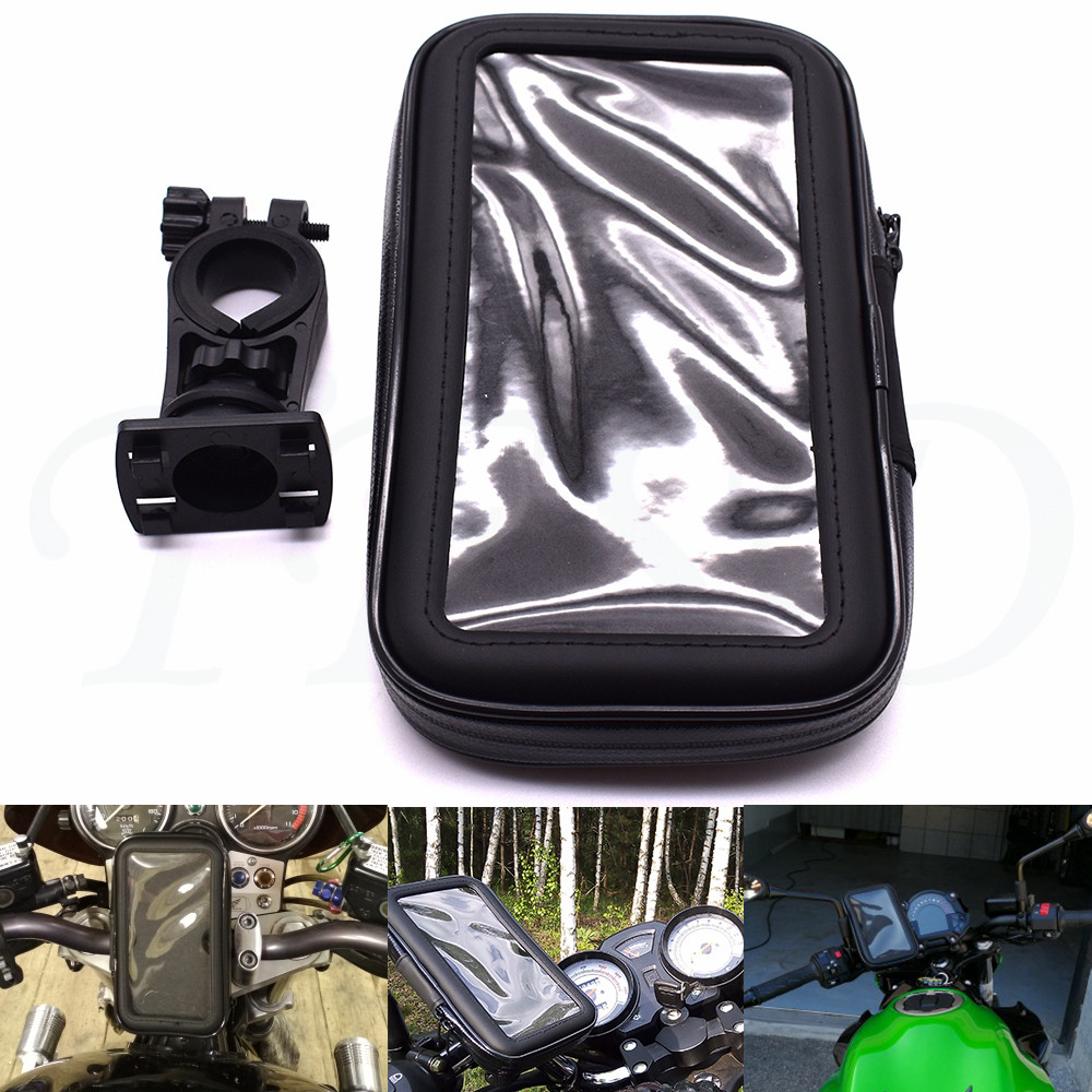 Universal bicycle motorcycle mobile phone waterproof bag navigation bracket For <font><b>SUZUKI</b></font> HAYABUSA GSXR1300 <font><b>GSX1000R</b></font> K5 image
