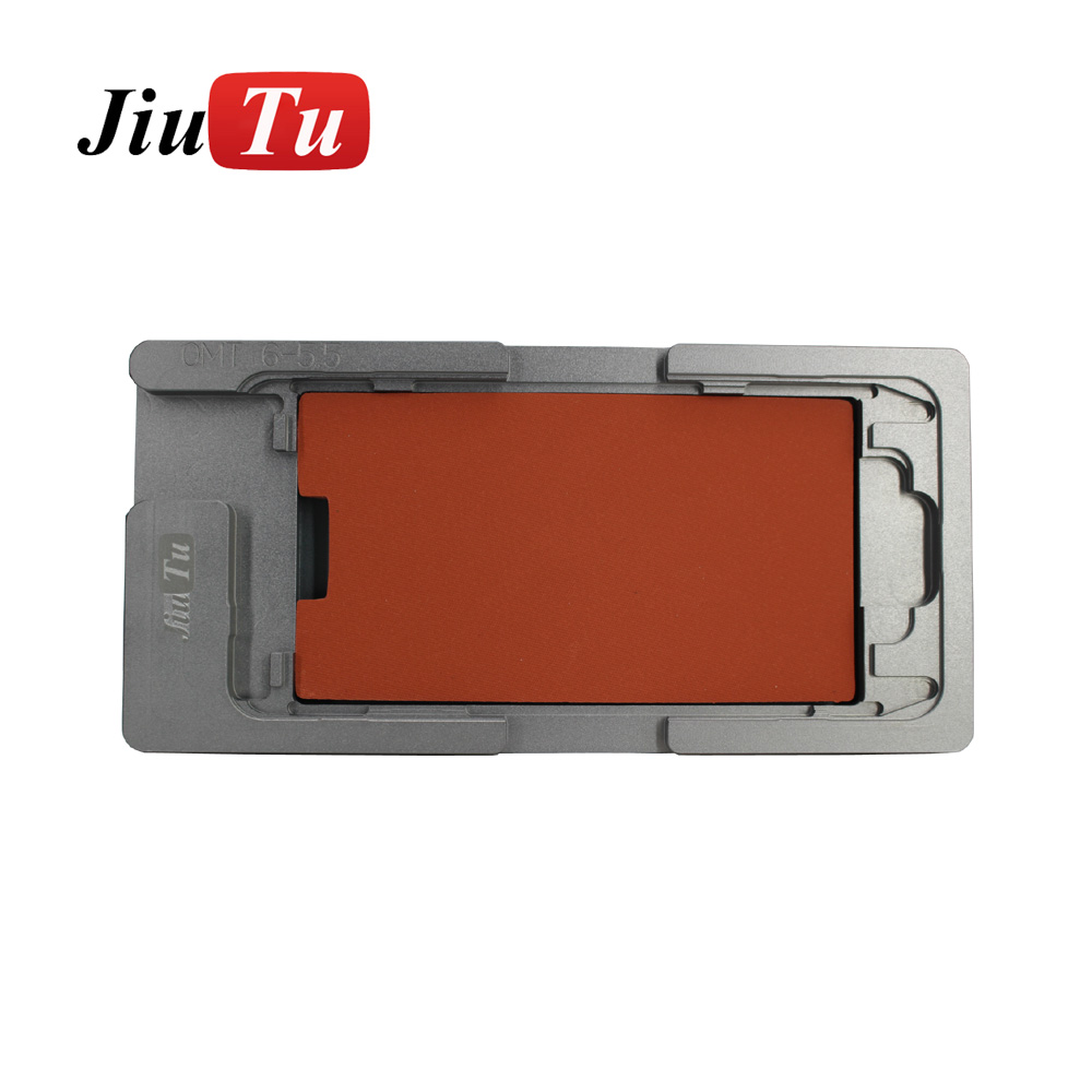 Aluminium Mould For iPhone plusX Laminator mold metal jig Only for the front glass with frame Location for OCA user (1)