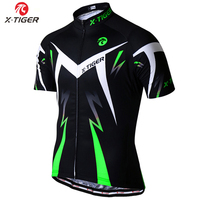 X TIGER Summer Green Flour Cycling Clothing Mountain Bike Jersey Ropa Ciclista Hombre Maillot Ciclismo Racing