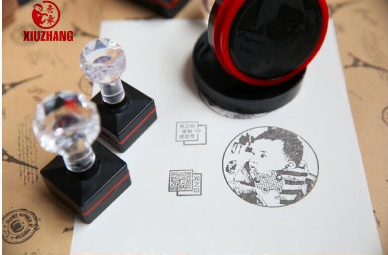 DIY Custom Stamp  Photosensitive Seal Stamp Personalized Logo Self Inking Stamp Custom Company Name Logo