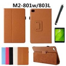 8 inch Nueva moda Litchi Soporte de Cuero Del caso de la cubierta protectora para Huawei M2 8.0 caso para Huawei M2-801W/M2-803L Tablet pc