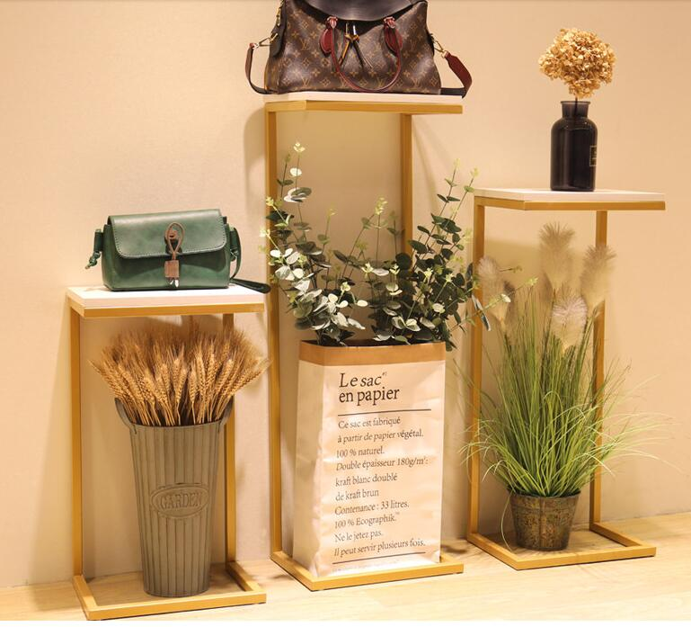 Clothing Store Flow Table Decoration Shop Window Clothes hanger Display Stand Zhongdao Show Counter High and Low Place Tables.