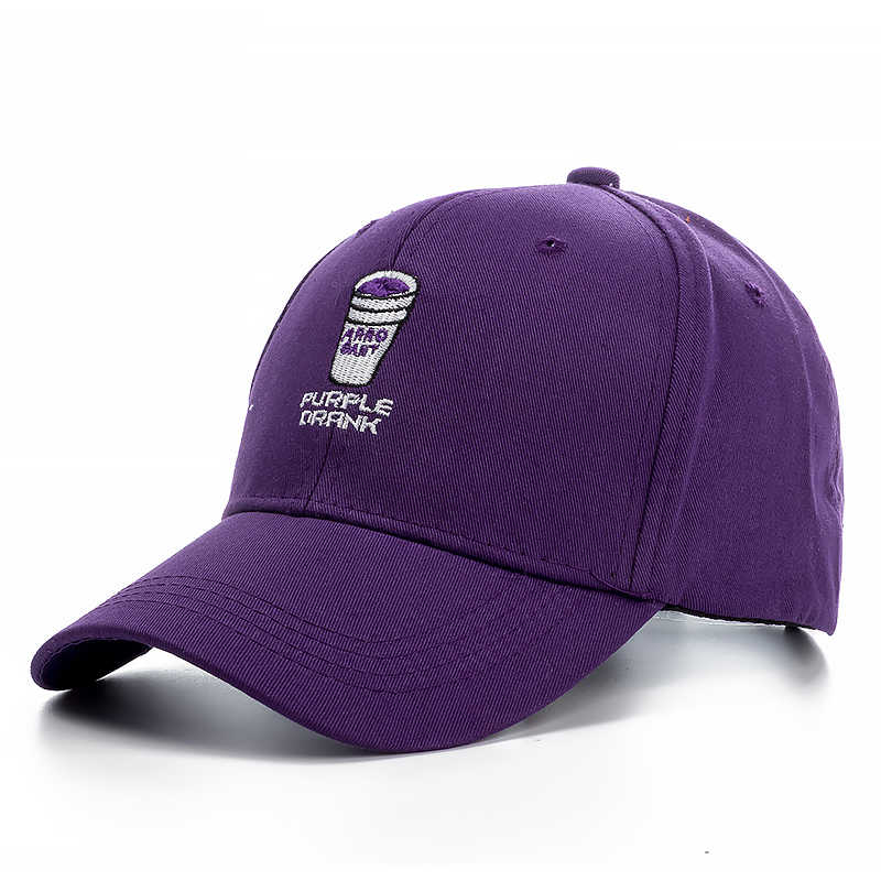 7f117b1903e Spring Men s Casual Cotton Purple Drank Dad Hats Baseball Caps Snapbacks  Women Embroidery Drake Hats Bone
