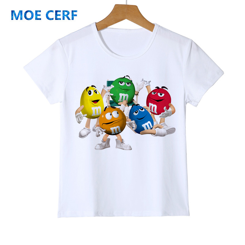 Unter Der Voraussetzung Mode Kid T-shirt 3d Junge/mädchen Schokolade Bohnen Mm Drucken Lustige Streetwear T-shirt Anime Kurzarm Baby Shirts Z47-4 Mit Traditionellen Methoden