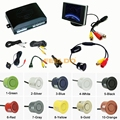 10-Color Car 4-sensor Rearview Parking Sensor Reversing System With 3.5inch Monitor and 18.5mm Camera #FD-2761