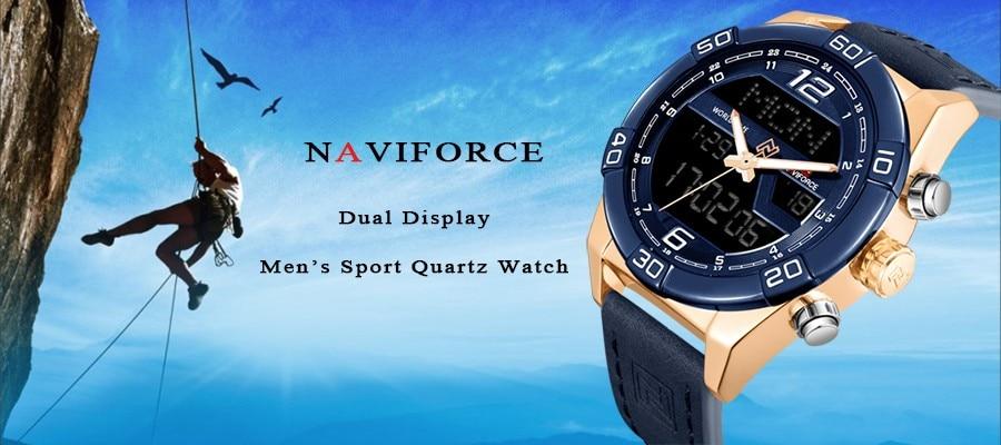 e777249dadec ộ ộ ༽Relojes hombres Top marca de lujo naviforce impermeable fecha ...
