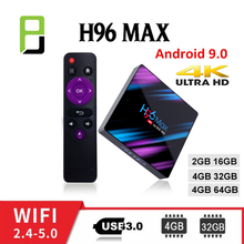 tv boxing h96 max Android 9.0 TV Box RK3318 H96 MAX USB3.0 dazn 1080 smart top box Wifi Bluetooth 4.0 OS 4K youtube HDMI 2.0