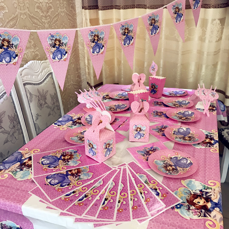 Princess Sofia The First Birthday Party Decorations Disposable Paper