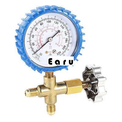 Air Conditioner Part 3-Way Valve 1/4NPT Thread Single Manifold Gauge 220psi globe valve 2 way nc 1 1 2 in f npt