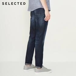 Выбранный мужской новый хлопок и лен сделать старый край шлифования предварительно промывают повседневные джинсы C | 418332513