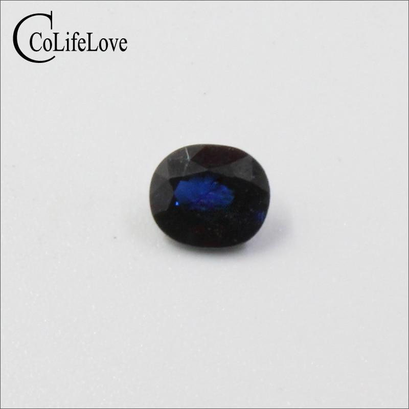 5 mm * 6 mm natural dark blue sapphire gemstone 100% real sapphire loose gemstone VS grade natural sapphire gemstone loose stone from chinese biggest sapphire mine dark blue natural sapphire loose gemstone