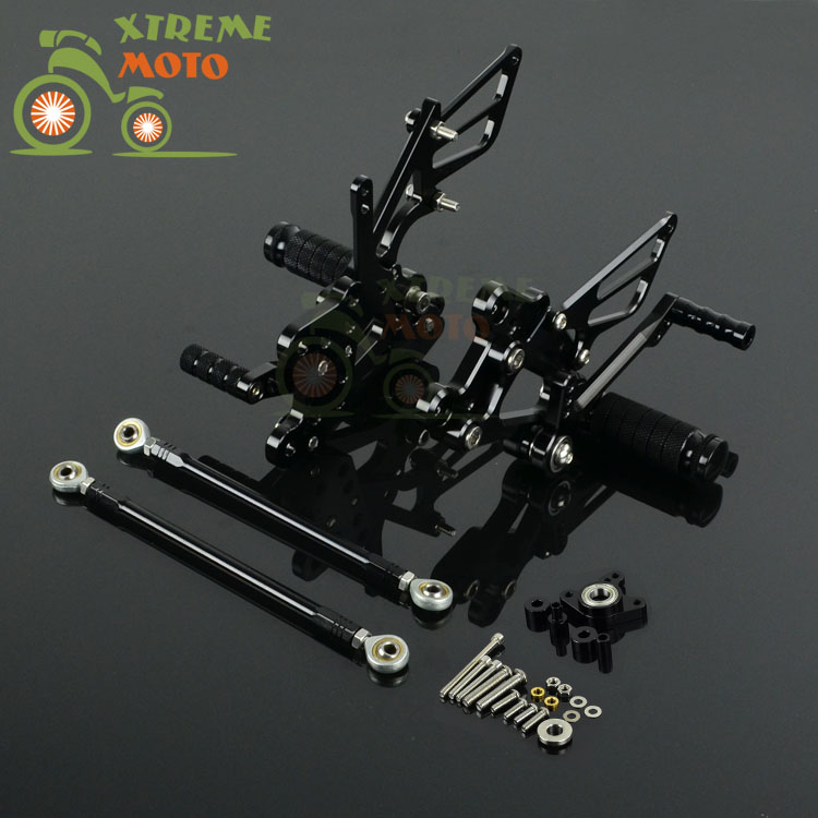 Motorcycle CNC Adjustable Motorcycle Billet Foot Pegs Pedals Rest For HONDA CBR1000RR 2004-2007 2004 2005 2006 2007 04 05 06 07 motorcycle adjustable rider rear sets rearset fold foot rest pegs for honda cbr1000rr cbr 1000 rr 2004 2005 2006 2007