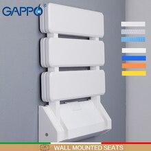 GAPPO настенные сиденья для душа, пластиковый складной стул для ванной комнаты, табурет, прочный стул для отдыха, Туалетная скамья для душа