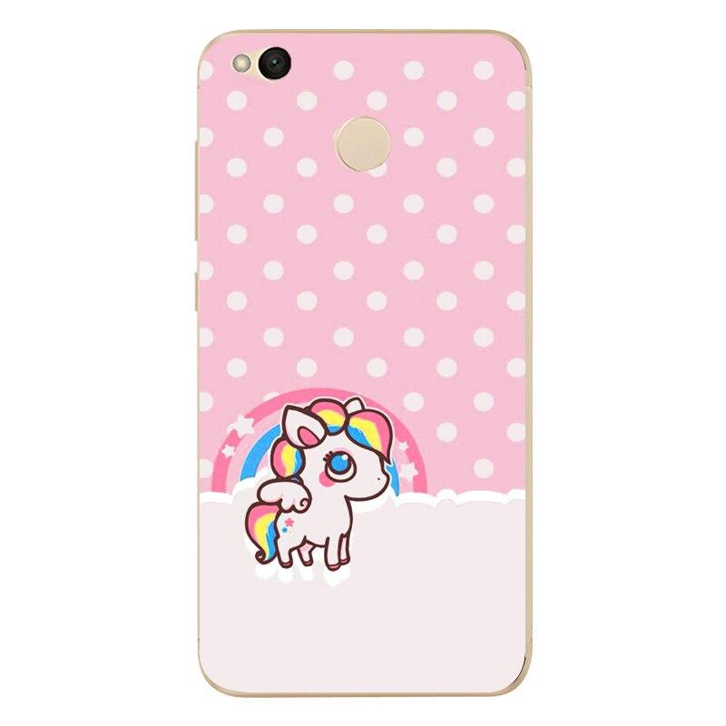 For Xiaomi Redmi 4X Hongmi 4 x Phone Case Cute Colorful Soft TPU Silicone Phone protective Cover 0536