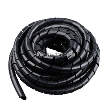 цена на Black Wire Spiral Wrap Sleeving Band Tube Cable Protector Cable Sleeve black Wire Protection Spiral cable sleeve OD 4/6/8/10/12