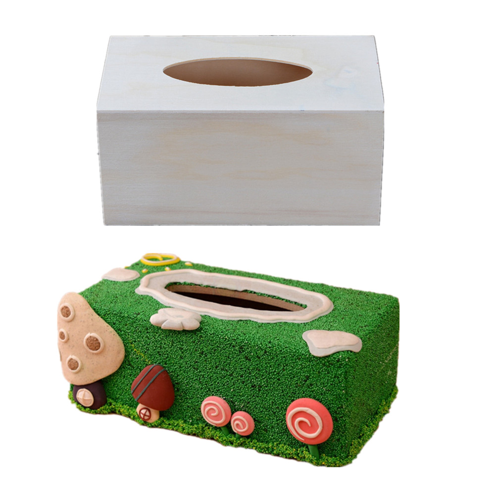 Wooden Diy Pearl Snowflake Mud Mold Box Cartoon Tissue Box Gift