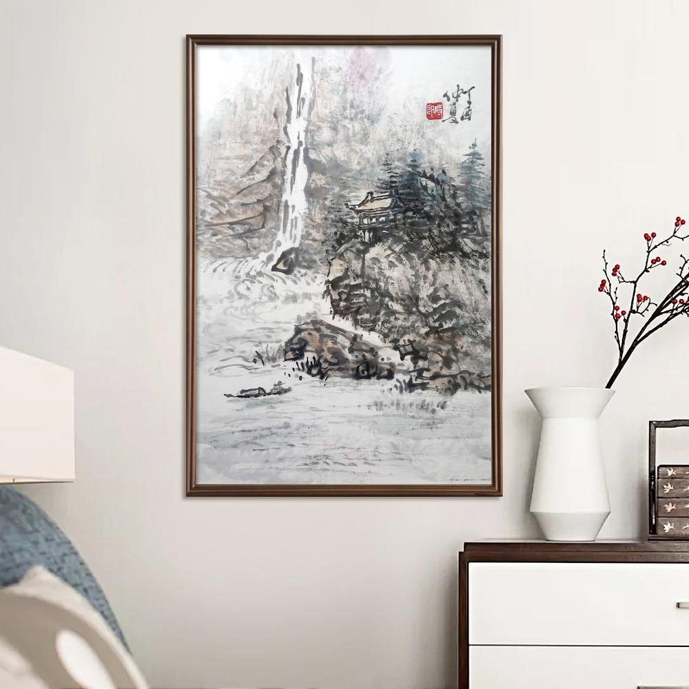 Китайская живопись 100% ручная роспись стены Искусство для дома и офиса украшения Традиционный китайский пейзаж живопись ручная работа
