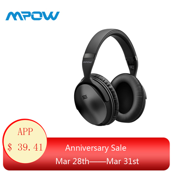 2019 Mpow H5 Active Noise Cancelling Headphone Over Ear HiFi Stereo Wireless Bluetooth Headphones With Microphone&Carrying Bag