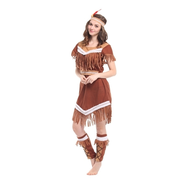 tassels indian queen halloween costumes for women plus size womens pocahontas native american indian wild west