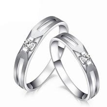 Diamond Couple Set Ring for Men & Women 0.07+0.06ct/pair 18K White Gold Handmade Diamond Jewelry Wedding Band Free DHL Shipping