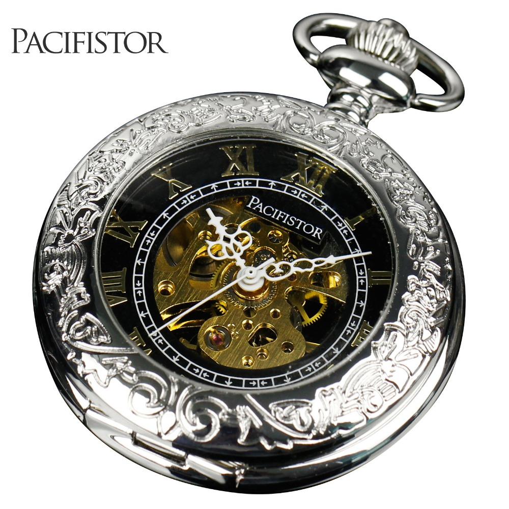 Pacifistor Mens Pocket Watches Vintage Reloj Bolsillo ...