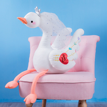 New 1pc 35cm-100cm Cute Swan Plush Toys with crown, Animal Toys, Childrens Baby Home Decor Christmas Gift